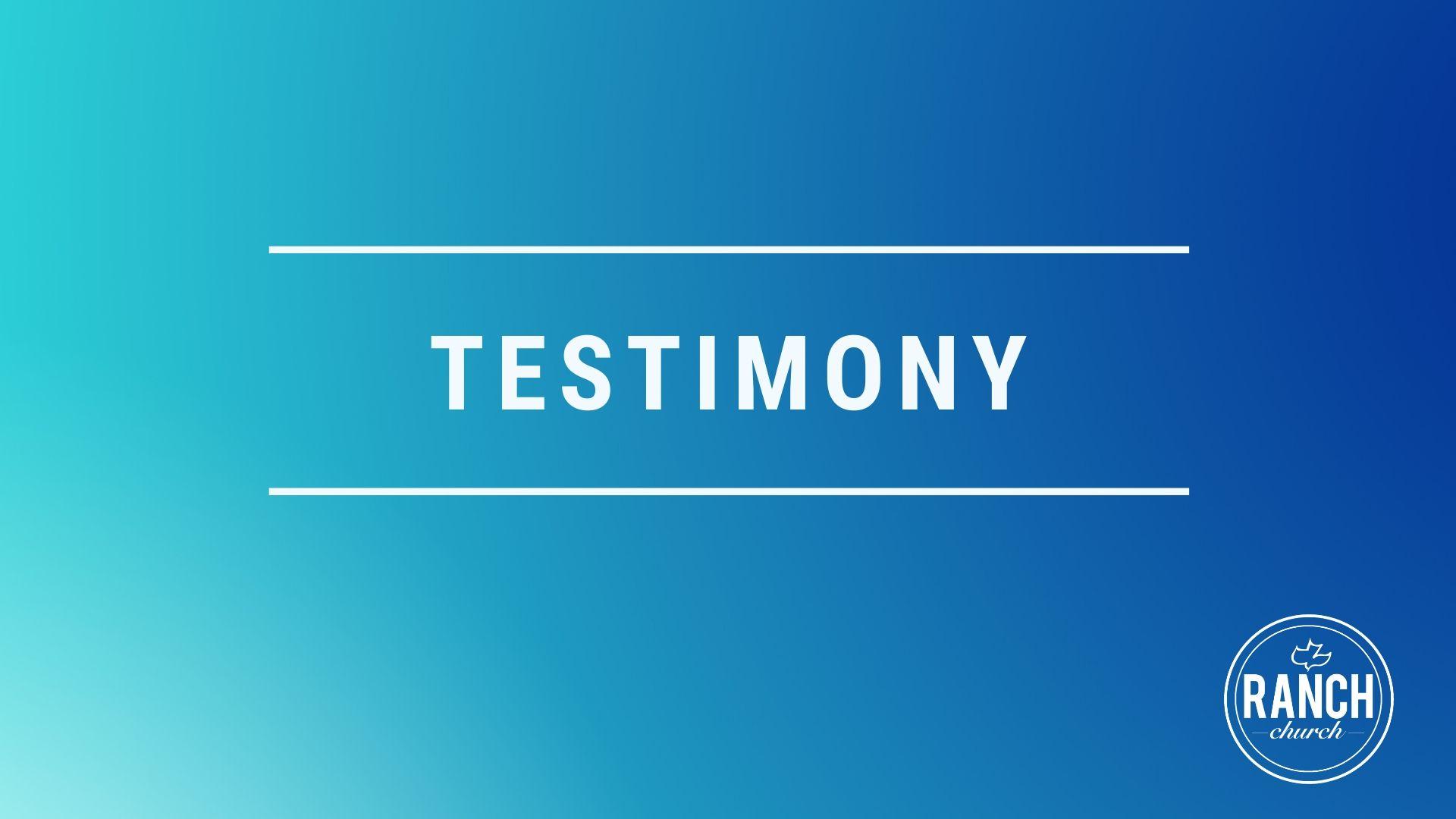 Testimony - Tony and Sandy Slobig Image
